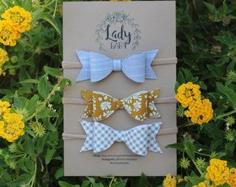 Premium Felt Bow Collection big girl/baby bow set