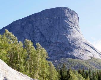 Mountain in Narvik Norway Digital Downlad, Stock Photo