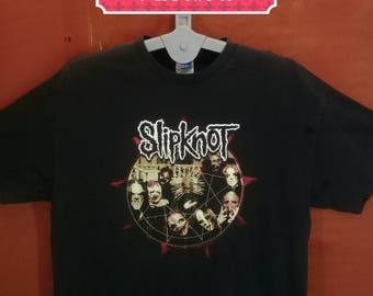 Vintage Slipknot Tee Tennesee Shirts Spellout Big Logo Shirt Black Colour Size 2XL Band Shirt Iron Maiden Shirt Metallica Mtv Concert Shirt