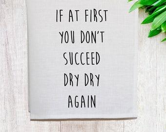 Dry Dry Again Linen Tea Towel [Off White]