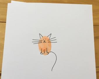Cool cat greetings card