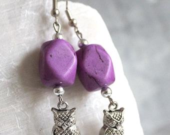 OWL 925 Silver hooks earrings