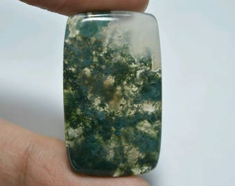 Moss Agate ..Cabochon ..cushion..35x20x4mm..31cts..A#429