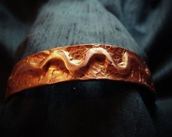 Copper bracelet, cuff bracelet, (WB47)