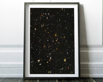 Space poster / Space art / Space print / Outer space / Universe print / Galaxy print art / Space wall decor / Astronomy / Digital print