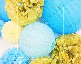 12pcs paper pom pom lantern honeycomb ball for wedding birthday baby shower graduation meeting event party decoration