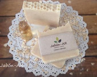Creamy 100% natural oatmeal SOAP