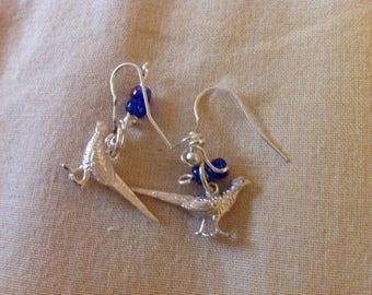 Pheasant earrings