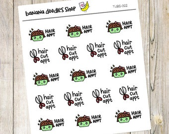 Tubs Hair Cut Appointment Stickers