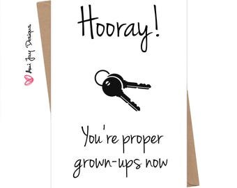 Funny New House Card / Cheeky / New Home / Grown-Up / Couple / Moving / Humour Greeting Card