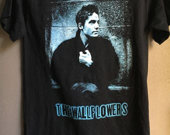 Free Ship Vintage 90s The Wallflowers Tour Concert T-Shirt / Size M / Jacob Dylan Alternative Rock Band