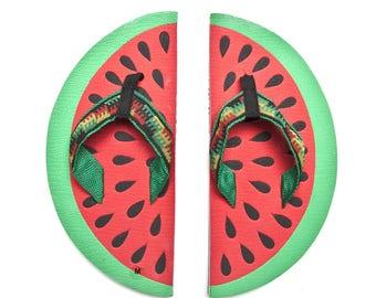 flip flops watermelon