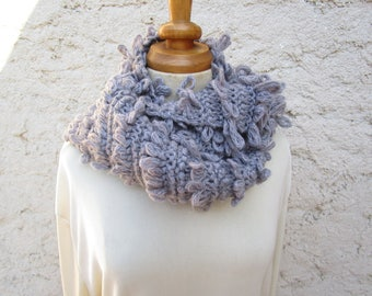 Gray wool scarf