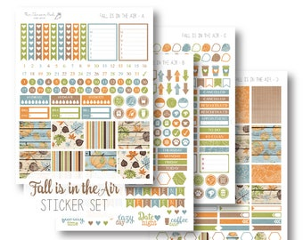 EC Fall is in the Air Planner Stickers, Sticker Kit, Weekly, EC Vertical Planner Stickers, Fall Sticker Set by The Clever Owl Paper Co.