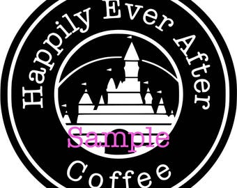 Disney Starbucks Coffee Inspired Castle SVG File for Cricut