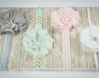 Flower Headbands/ Baby Girl Headbands/ Hair Bows/ Baby Headband Bows