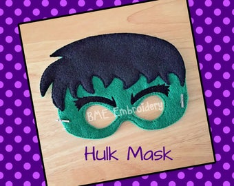 Hulk Inspired Mask-Halloween Mask/Costume-Dress Up-Child's Imaginary Play- Birthday Party Favor-Theme Parties-Hulk Party-Photo Prop