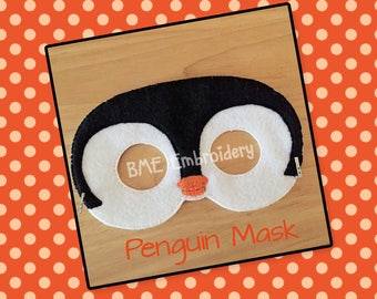 Penguin Felt Mask- Child's Dress Up and Imaginary Play- Birthday Party Favor-Photo Shoot-Pretend Play-Theme Party-Penguin Party