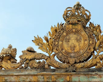 Gilded Gates of Versailles -  Photo, Art, Color and BW Photography & Home Decor, Wall Art, Prints, Matted Photo, Paris, France