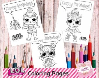 NEW!!! LOL SURPRISE Coloring Pages! Instant Download!