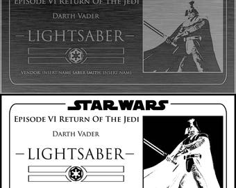 Darth Vader ROTJ Saber Plaque (6x3 Inches)