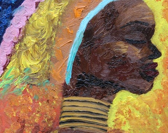 Mama Africa #2 - Original Acrylic Painting Prints