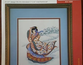 Counted cross stitch Geisha girl