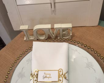 Wedding Gold Foil Place Card Name Tag