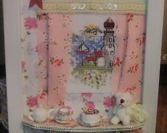 Teddy Decorated Frame diorama bear miniature doll dollhouse Dollshouse nursery baby shower