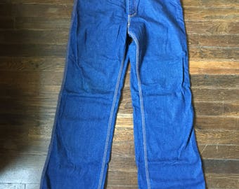Perfect 1970s High Rise Wide Leg Jeans Waist 26/27/28