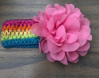 Baby headband with large flower