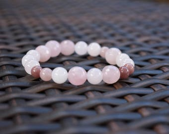 Pink and Blush Beaded Bracelet