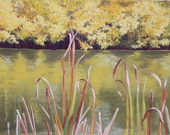 Waters Edge, Set of 5 Note Cards with Envelopes from Original Pastel Painting