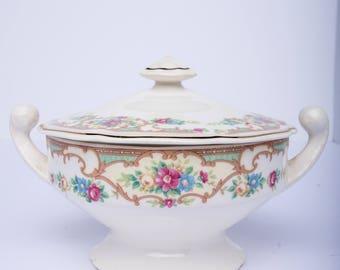 USA pottery sugar and creamer set