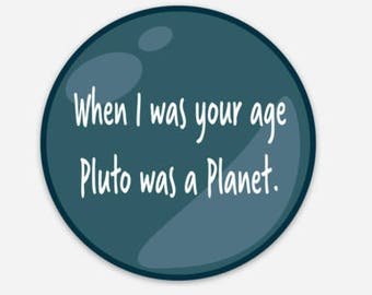 Pluto Laptop Sticker