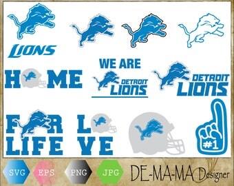 Detroit Lions Svg, Detroit Lions vector, Detroit Lions football, Detroit Lions PNG, EPS,JPG
