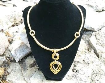 Clara Kasavina matte gold necklace
