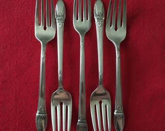International Silver First Love Silverplate Forks