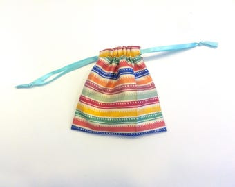 Cotton-lined Crystal Pouch 2 (Drawstring, 11 x 11.5cm)
