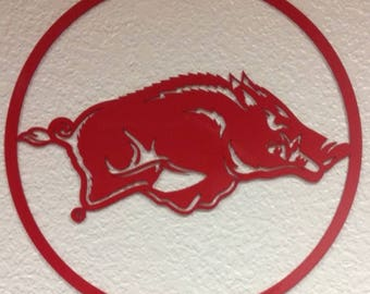 Razorback Circle Wall Art