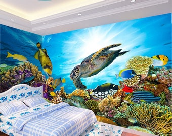 3D Beautiful Under The Sea View 1059 Wallpaper Mural Wall Print Decal Wall  Deco Indoor Wall Part 75