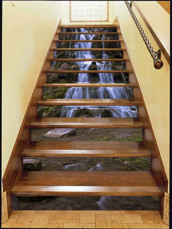 3d Waterfall Stone Forest View 68 Staircase Stairway Stairs