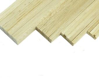 Balsa Strip Wood Bundles of 10 - Craft and Model Making Supplies
