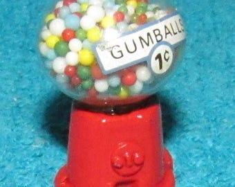 Vintage New Old Stock Dollhouse Miniature Gumball Machine