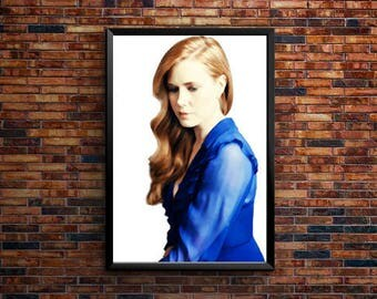 Amy Adams posters, Amy Adams, Amy Adams print, Home Decor, Wall art, Amy Adams gift, Movie Poster, Amy Adams art, picture poster