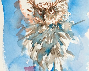 Owl by the moon