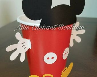 Mickey Mouse Goodie Bags, Mickey party favors, Mickey treat bags, Mickey cut outs , Mickey cups