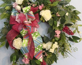 Valentine Heart Large Wreath Spring Colors
