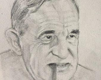 Portrait of Charles Vanel, pencil on paper, 16x24cm 2017
