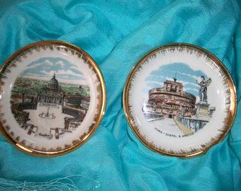 Vintage Konigl pr Tettau Bavarian Porcelain Wall Plates